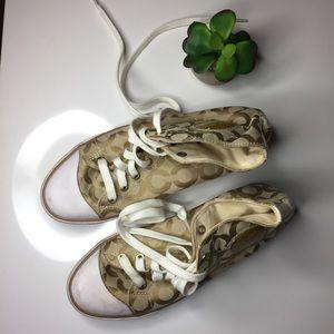 Coach hi top shoes